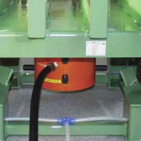 MARTIN<SUP>®</SUP> NTS™ Non-Impacting Linear Vibrator in use on a roller conveyor.