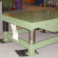 Vibration test table for washing machines